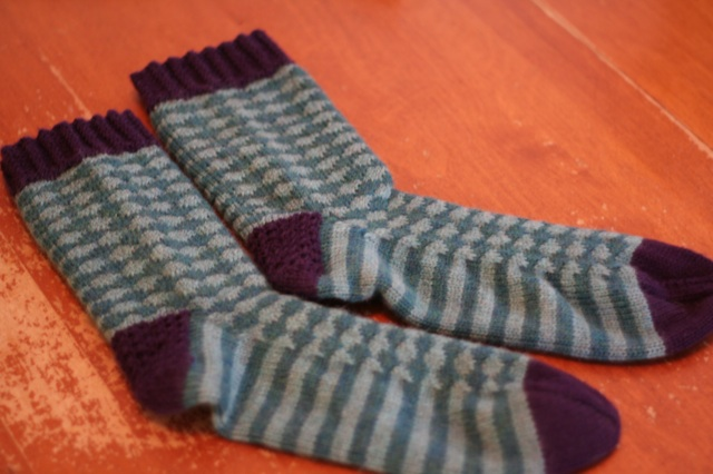 Count 'em: two finished socks!