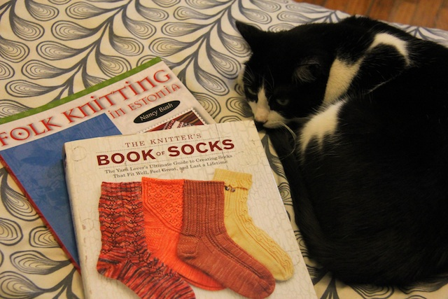 I don't usually take advantage of Ganymede in this way, but a photo of books is much more exciting with a cat in it.
