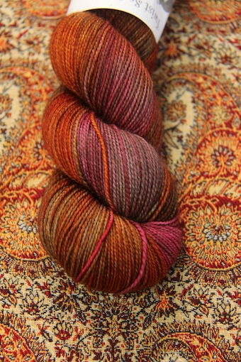 Hedgehog Fibres Twist Sock in Pheasant.