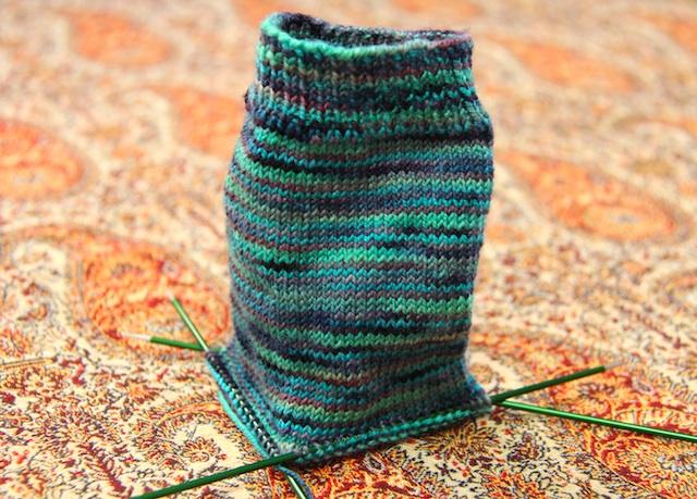 Plain socks, knit in Koigu KPPPM #P123
