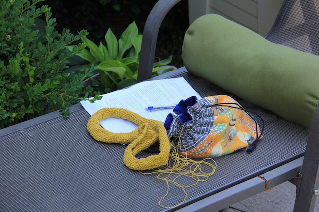 There was less of this than I was hoping for, but I snuck in backyard knitting where I could.