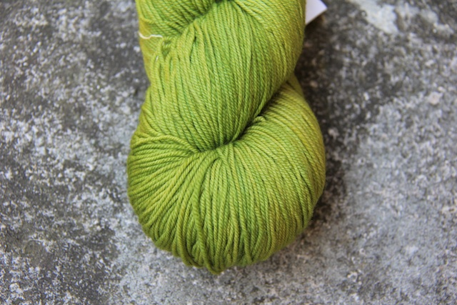 Malabrigo Sock in Lettuce.