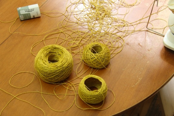 Three partial balls and a giant tangle.
