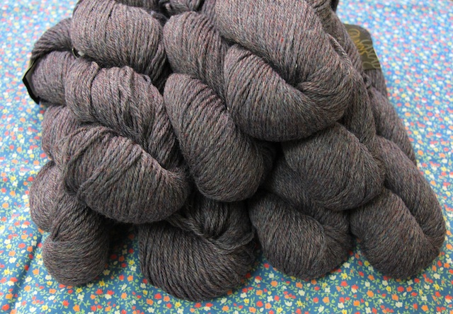Cascade 220 in Liberty Heather (a sort of purplish grey)