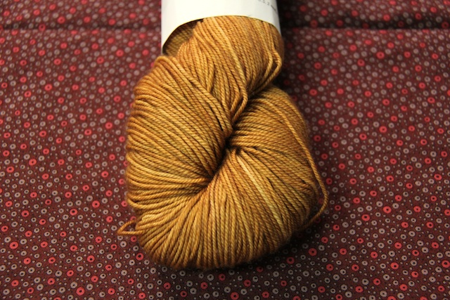 Anzula Squishy in Rootbeer – I am have a bit of a shawl moment right now, and I think this would gorgeous as  the Sagano Shawl by Laura Chau. Thoughts?