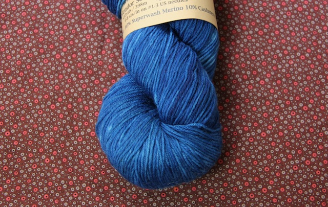 Jill Draper Makes Stuff Splendor Sock in Cobalt