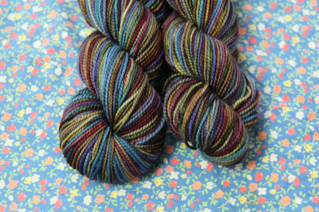 Surprise! (Are you tired of looking at the same projects all the time? I am a bit.) I have big plain-stockinette-socks plans for after the holidays. This Koigu features prominently.