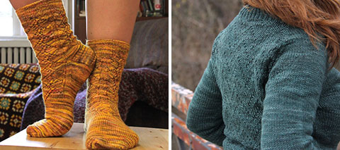 Hummingbird socks and Woodstove Season cardigan