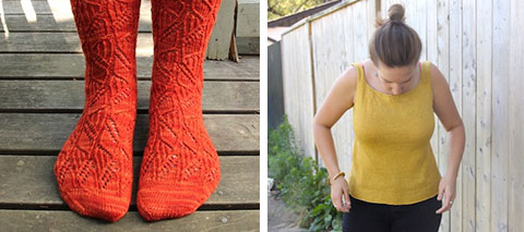 Willowherb socks, Kit Camisole