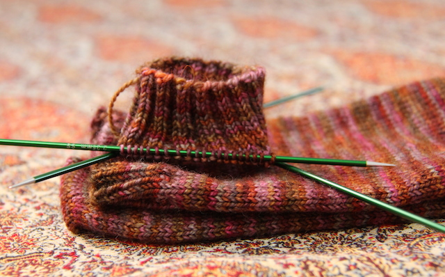 My background knitting. Slow but steady, these are part of my grand plan for increasing my pairs of plain socks.