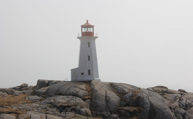 The famous lighthouse in Peggy's Cove. It was a bright and sunny day in Halifax, but when we got to Peggy's Cove it was quite chilly. The upside, of course, was there was almost no one else there.