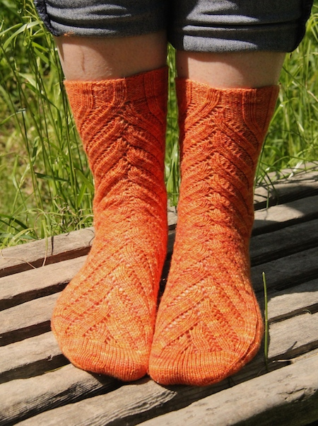 It was quite a sunny day when we shot these, but since they're meant to be summer socks I guess that's alright.