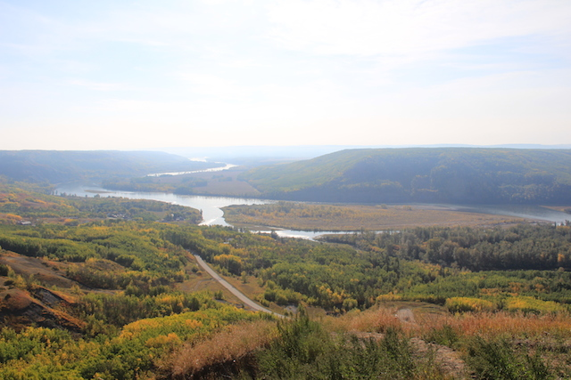 View of the Peace River.