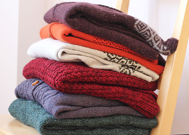 I couldn't resist stacking up all my hand-knit sweaters after finishing Epistrophy. There's pretty good variety in that pile, though more light-weight and/or pullovers wouldn't go amiss.